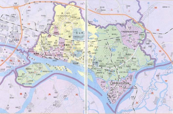 广州市黄埔区详细地图【相关词_ 广州市黄埔区】